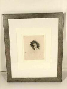 Rembrandt Self Portrait Framed Etching