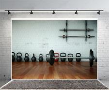 7x5FT Vinyl Studio Fitness Equipment Backdrop Photography Photo Background