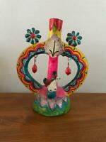 Vintage Mexican Pottery Folk Art ' TREE OF LIFE ' Free Shipping from JAPAN