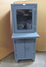 """STRONGHOLD 26""""X24""""X72"""" HEAVY DUTY STEEL STRON HOLD COMPUTER CONTROL CABINET (3)"""