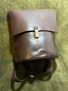John Lewis Women's Brown Leather Backpack RRP £130 (New with Tags)