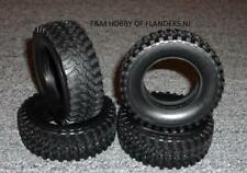 New Tamiya 4 Tire Set From Kit 49490 Pajero Metal Top Wide CC-01 Truck