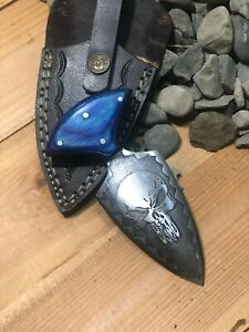 MH Rare Custom Carbon Steel Art Skinning Skull Design Knife,Dagger Colors MH-45Z