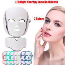 7 Colors LED Light Photon Therapy Face Neck Mask Anti-Aging Skin Rejuvenation