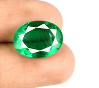 Muzo Colombian Emerald 100% Natural Gemstone 7-9 Carat Oval Cut AGSL Certified