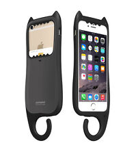 "myCat iPhone 6/6s 4.7"" Cover Case Card Pocket Hanger Design KOREA - Dark Silver"