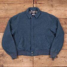 """Vintage pour homme WOOLRICH 1960 S Bleu Couverture Doublée Laine Manteau Veste Grande 44"""" R8755"""
