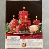 1967 Best Foods Mayonnaise Cranberry Candles Photo Print Magazine Ad