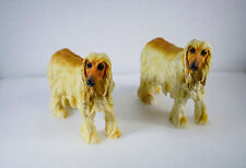 Pair of Afghan Hounds By Leonardo H 15 cm.