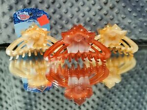 3 Pack of Flower Hair Clips Big (BRAND NEW)