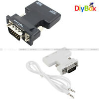 HDMI Female to VGA Male Converter +Audio Cable Support 1080P Signal Output