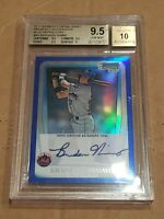 Brandon Nimmo 2011 Bowman Chrome Blue /150 BGS 9.5/10 Auto RC Rookie Autograph