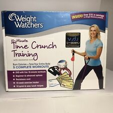 Weight Watchers 10 Minute Time Crunch Training Kit DVD Resistance Cord Sealed