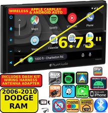 06-10 Dodge Ram Wireless Apple Carplay Android Auto Navigation Car Radio Stereo