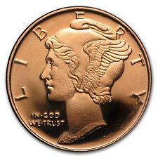 1/4 oz Copper Round - Mercury Dime (20 count tube) SKU# 87409