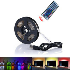 60Leds/m Waterproof Remote Controller LED USB Powered Color Rainbow Strip Light