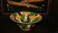 Antique Chinese Sancai Three Colour Bowl