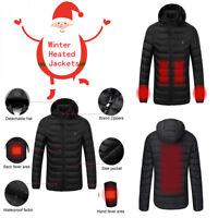 Electric Heated Warm Vest Men Women Heating Coat Jacket Clothing Skiing Winter M