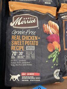 Merrick Grain Free Dry Dog Food Real Chicken & Sweet Potato Recipe - 22.0 lb Bag