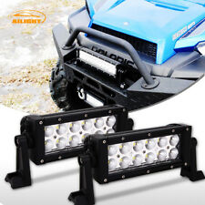 "Pair 36W 6-7"" LED Light Bar Flood Fog Lamp For ATV UTV Dirt Bike Handlebar Mount"