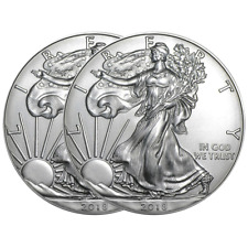 Lot of 2 - 2018 $1 American Silver Eagle 1 oz Brilliant Uncirculated
