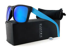 New Electric SWINGARM Sunglasses | Matte Black Blue / OHM Grey Blue Chrome Lens