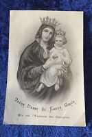 Vintage Antique 1941 Notre Dame French Holy Prayer Card Catholic Religious Vtg