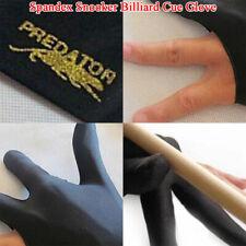 2x Smooth Spandex Snooker Billiard Cue Glove Pool Left Hand Three Finger Accesso