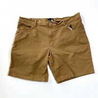 The North Face Size 40 Cotton Shorts Brown Hiking Casual Chino Khaki Men's