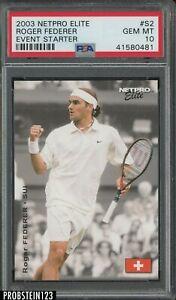 2003 Netpro Elite Tennis Event Edition #S2 Roger Federer PSA 10 GEM MINT