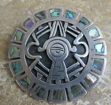 VTG Sterling Silver Taxco Damaso Gallegos Modernist Mystic Eye Pendant and pin