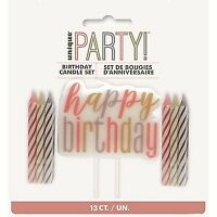 ROSE GOLD NUMERICAL CANDLE-HBDAY BIRTHDAY PARTY SUPPLIES