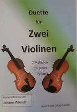 Noten Violine (Duette) Band 2 des Erfolgsbandes von Johann Wiendl
