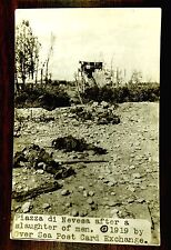 Slaughter Of Men Piazza Di Nervesa Bavaria Treviso Italy World War One rppc 1919