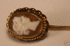 Gold Filled Setting Antique Cameo Stickpin