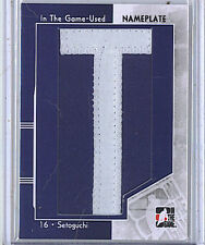 Devin Setoguchi 2013-14 In The Game Used Nameplate Letter 1/1