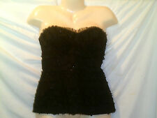 TRINA TURK TUBE TOP NWOT BLACK WITH A BIT OF SPARKLE SIZE 2