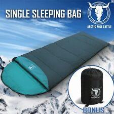 Outdoor Camping Envelope Sleeping Bag Thermal Tent Hiking Winter Single Green