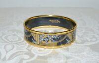 Preloved MICHAELA FREY Austria Art Deco Vintage Enamel Bangle Bracelet 62