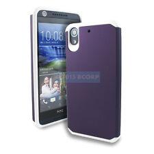 HTC DESIRE 626 626S 625 PURPLE WHITE ASTRO ARMOR IMPACT HYBRID CASE PHONE COVER