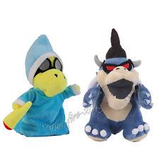 2pcs Super Mario Bros Magikoopa Dark Koopa Bowser Plush Doll Stuffed Toy Gift