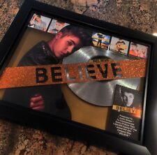 Justin Bieber Believe Platinum Record Album Disc Music Award MTV Grammy RIAA
