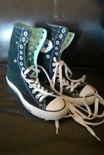 Converse Allstar unisex high tops black aqua snap down top shoes size 5