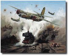 """""""Marauder Strike"""" by Heinz Krebs B-26 signed by Pilot Robert D. Sullivan"""