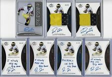 2015 Leaf Trinity Devin Funchess Blue Foil Inscription Auto RC 11/25 WR Panthers