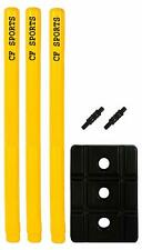 Solid Plastic Cricket Stump Wicket Set (Large) Black and Yellow Us