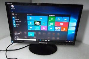 """Sceptre E225W 22"""" Widescreen LED Monitor 1080p w/Speakers HDMI DVI E225W-19208A"""
