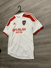 Men's Adidas GPS Milan Soccer Shirt Jersey 37 White Red MLS Climate