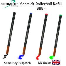 3x Schmidt 888F Rollerball Pen Refill -FINE -BLACK BLUE RED GREEN -Fits Waterman