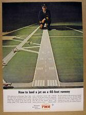 1963 TWA Pilot & Miniature Airport Runway for Flight Simulator vintage print Ad
